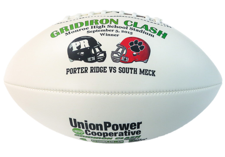 School Rivalry Commemorative Football