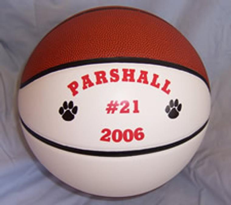 Personalized Split Panel Fullsize Basketball
