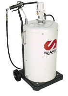 SAMOA Pumpmaster 3, 55:1 Ratio Air Operated Shielded Mobile Grease Unit for 50kg Drums