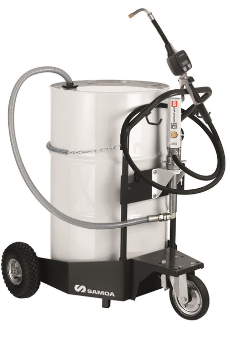 SAMOA Pumpmaster 2, 3:1 Ratio Air Operated Trolley Mounted Mobile Oil Dispenser for 205 Litre Drums
