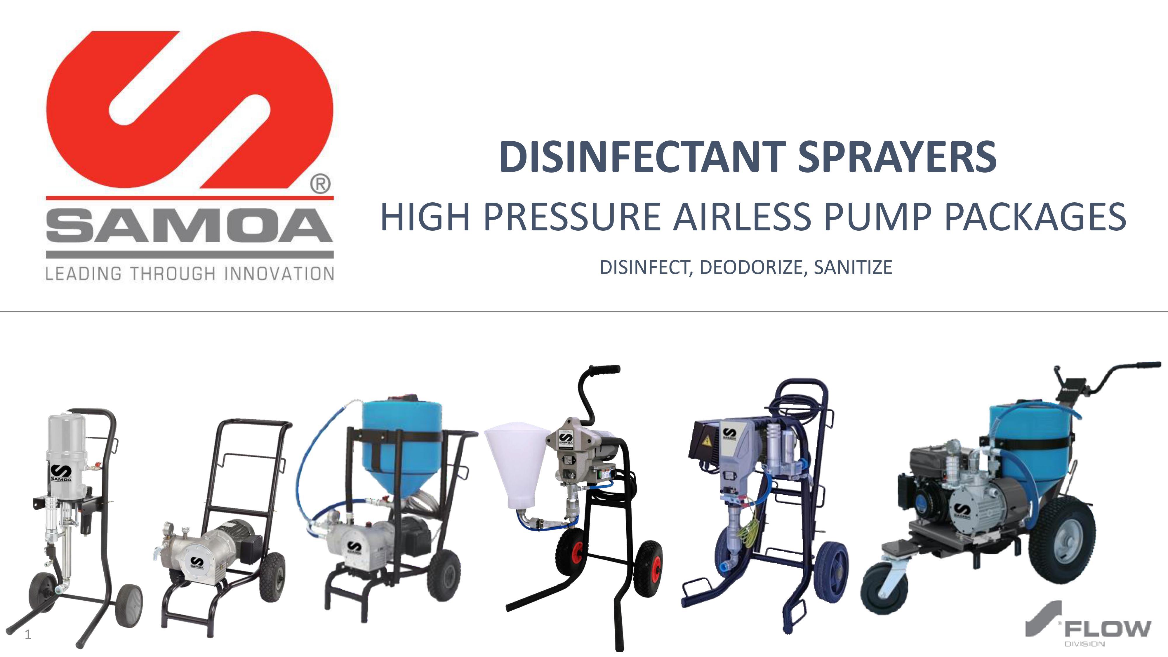 SAMOA Disinfectant Sprayers