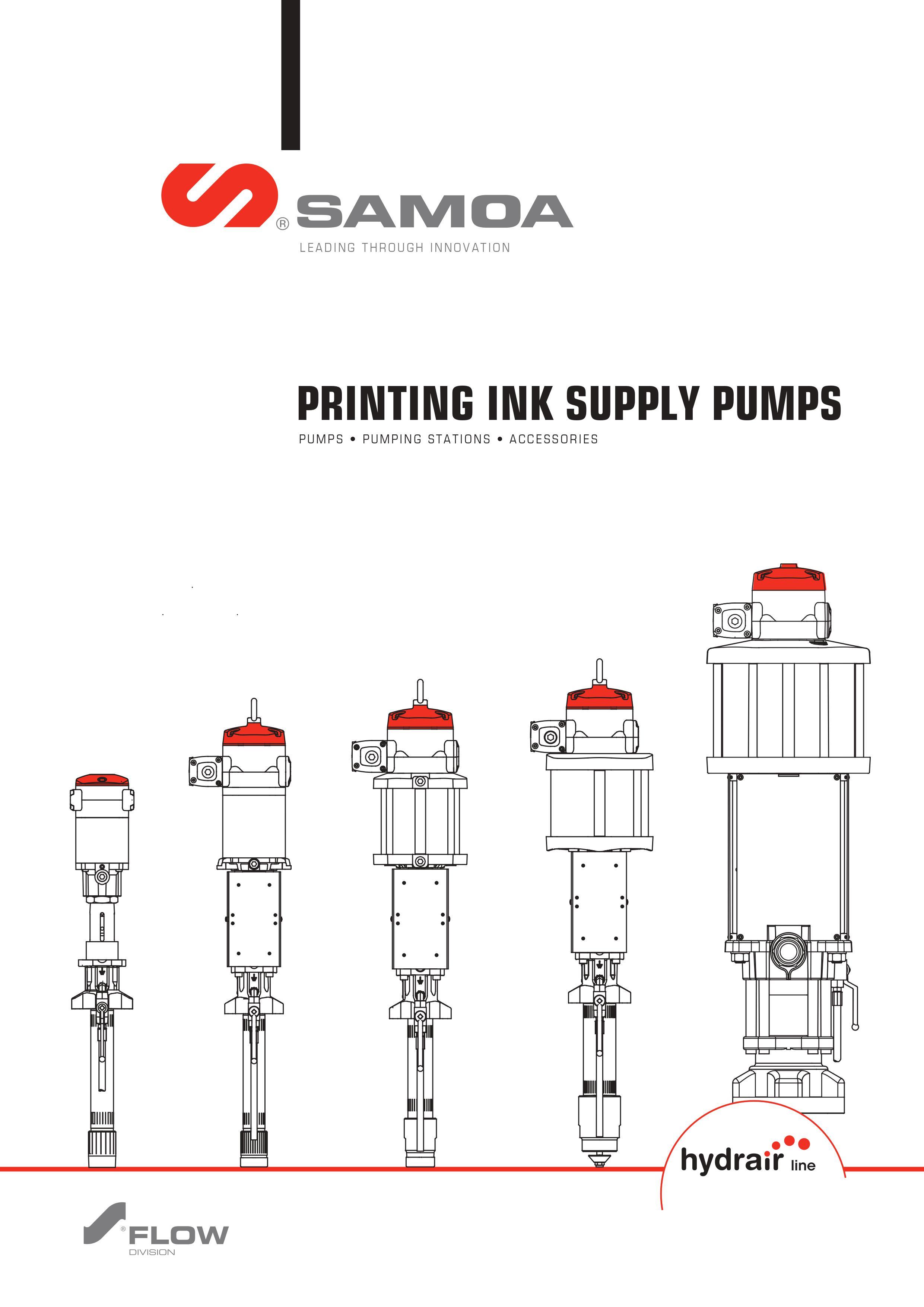 SAMOA Hydrair Pumpmaster Ink Feeding Pumps & Stations Brochure