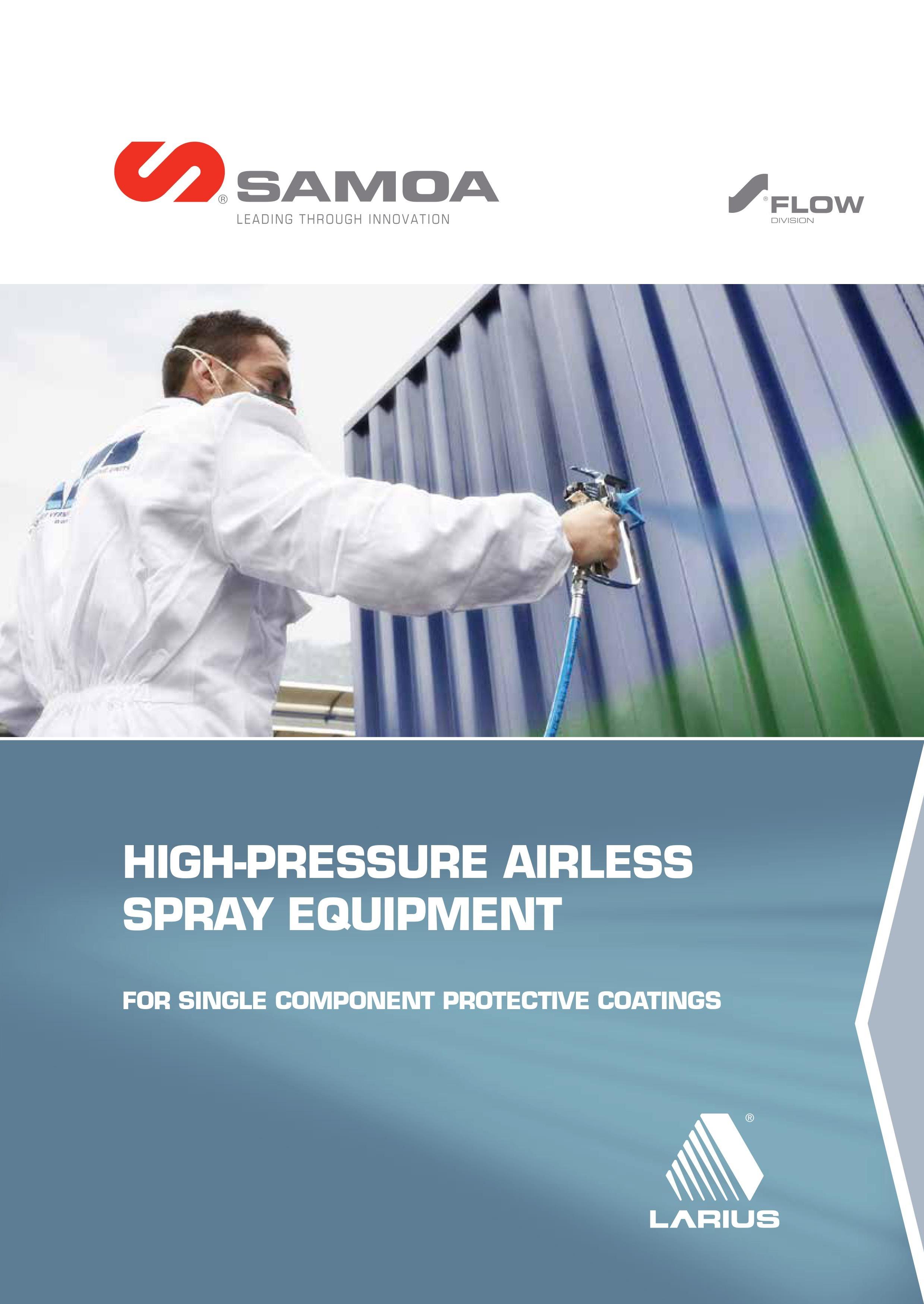 SAMOA Larius Airless Paint Sprayers Brochure