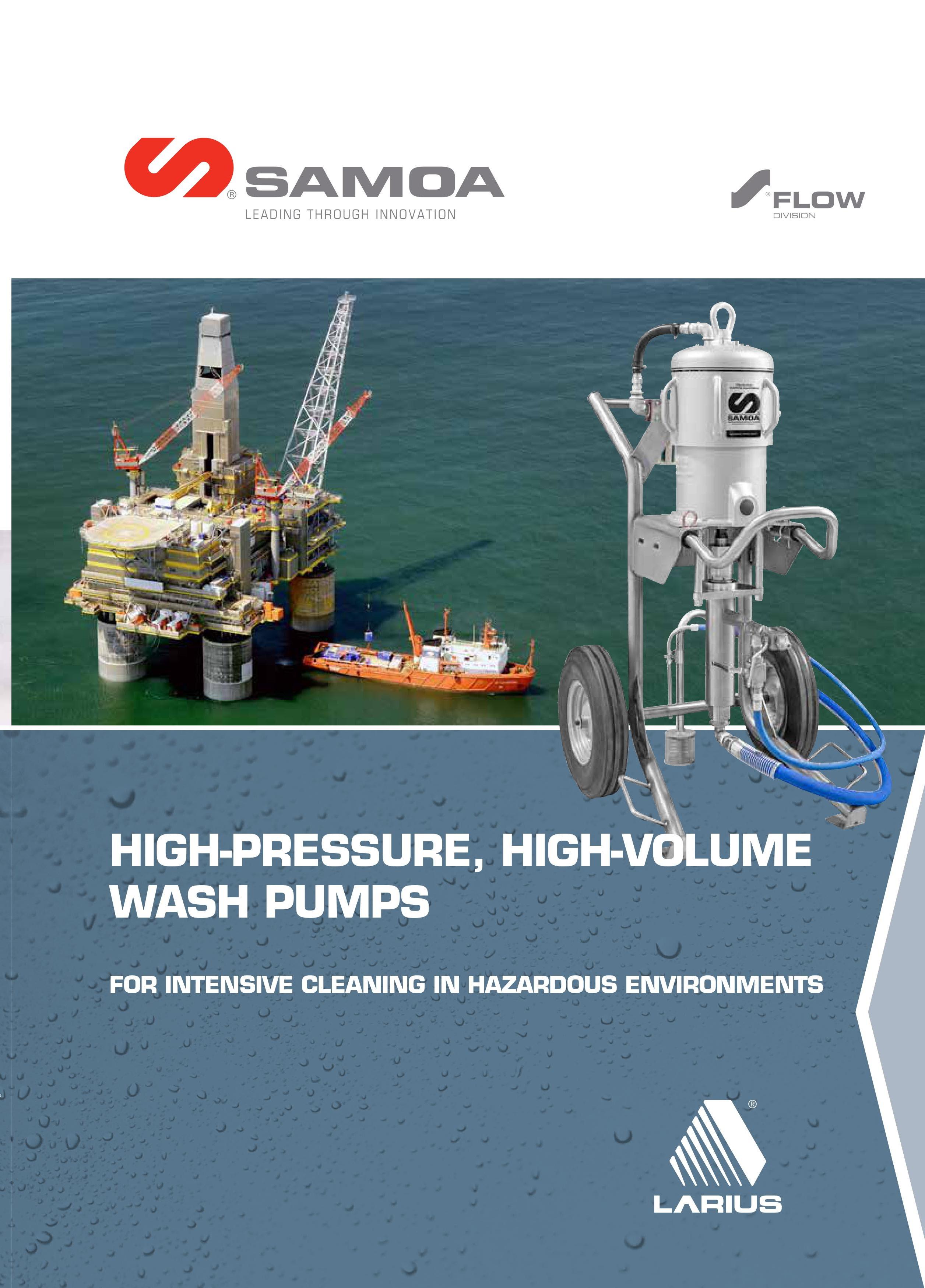 SAMOA Larius Aquablast Hydrocleaners & Pressure Washer Brochure