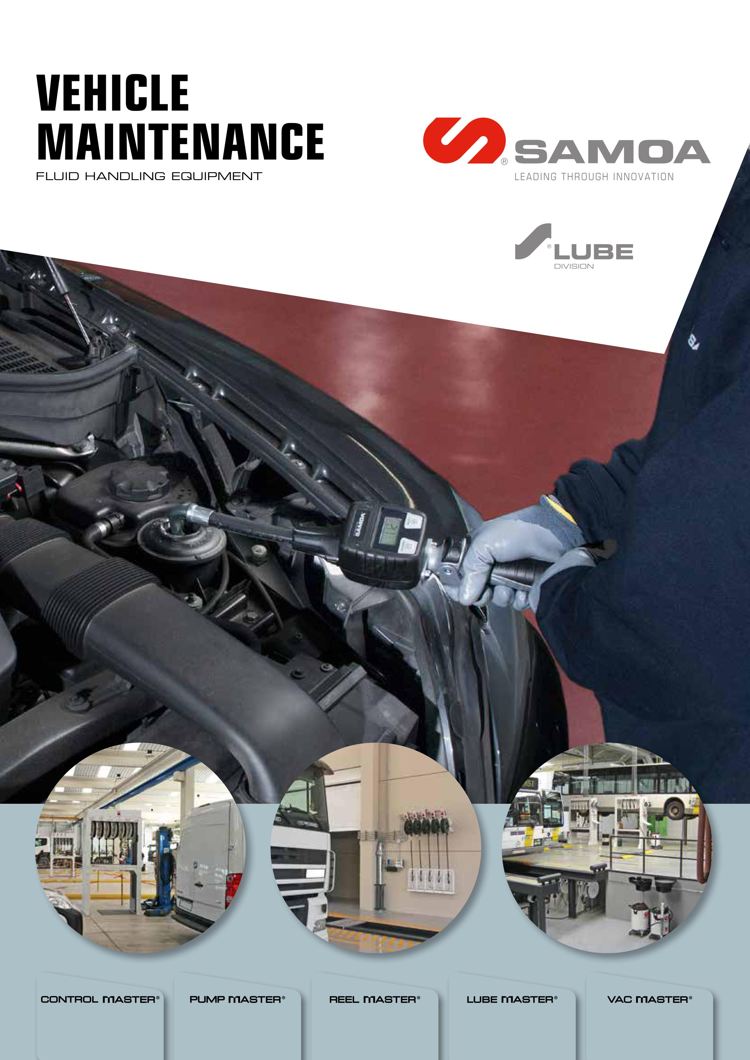 SAMOA Vehicle Maintenance Brochure Cover