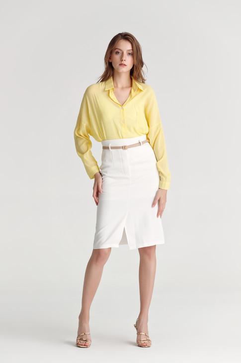 Sheer Fabric Long Shirt