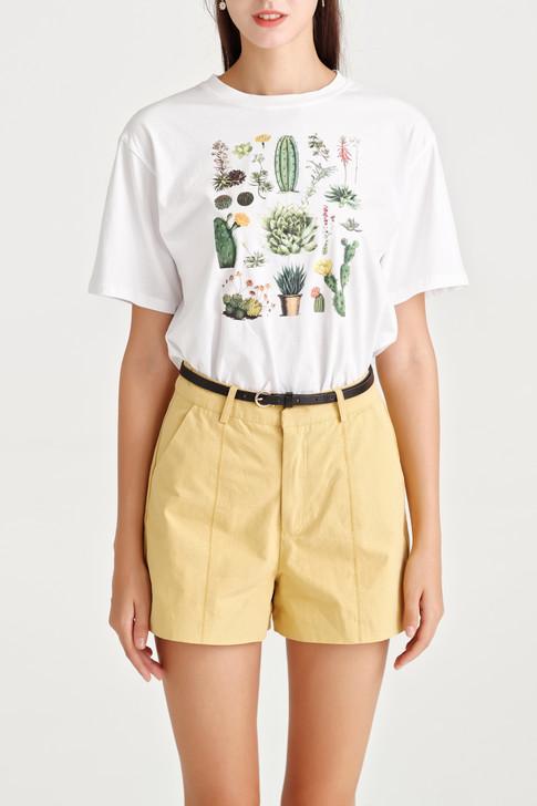 Cactus Print Jersey Top