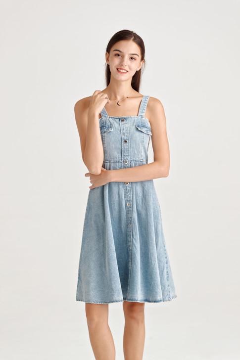 Denim Fit&Flare Dress