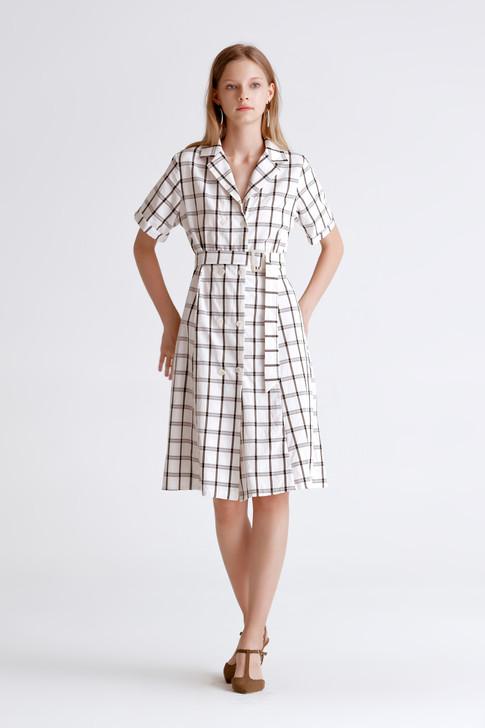 Window Pain Shirt Dress