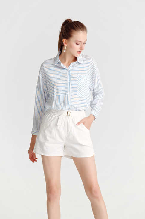 Stripe 3/4Sleeve Shirt