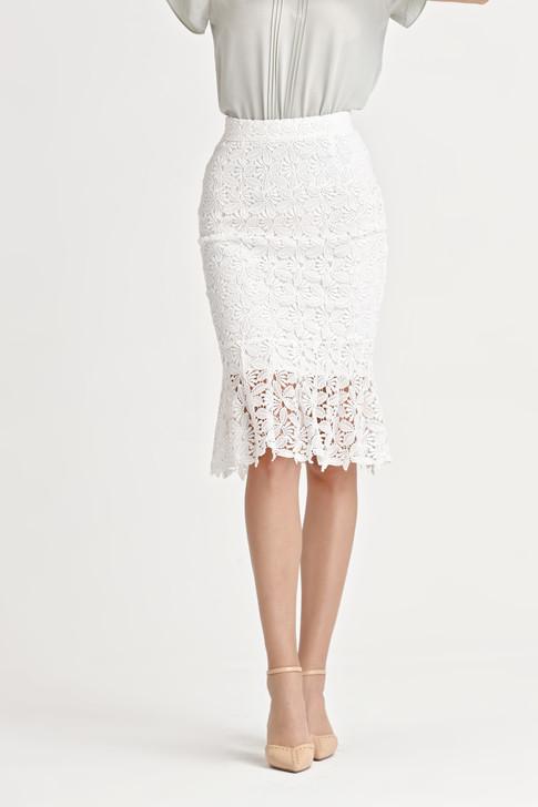 Lace Hem Frill Skirt