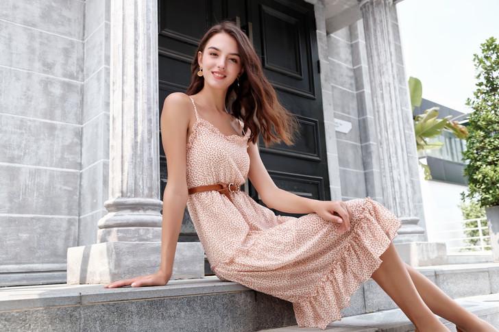 Print Tiered Dress
