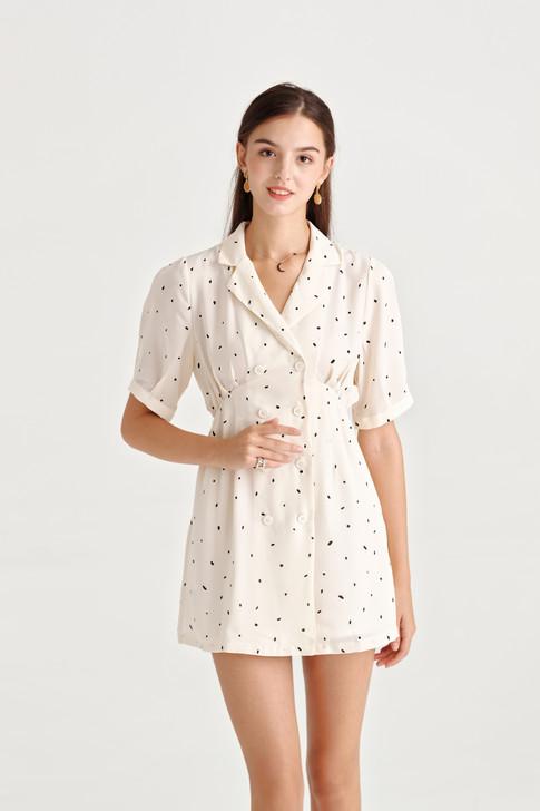 Dot Double-Breast Dress