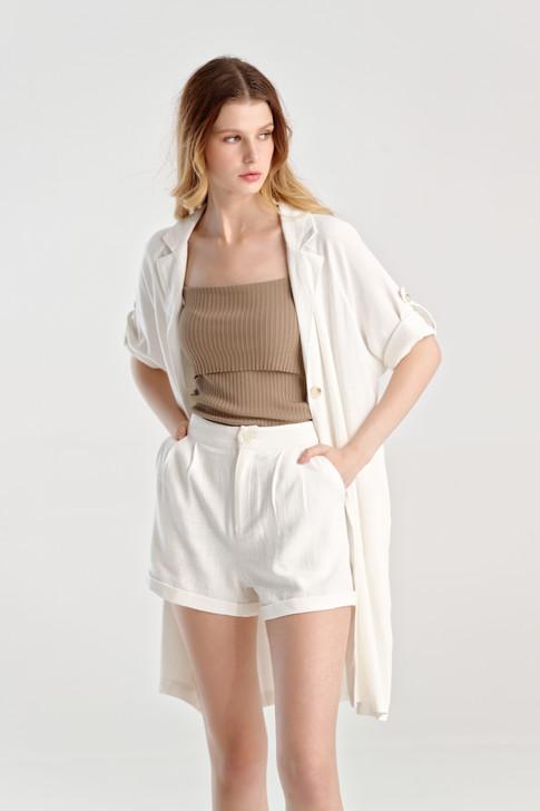 Linen like Long Jacket