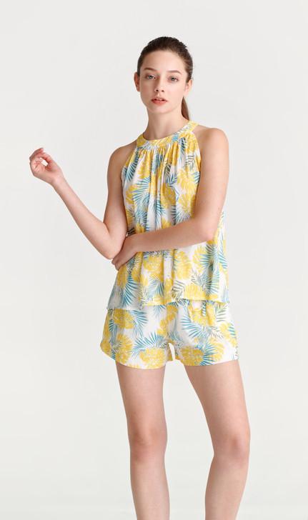Chiffon Tropical Print Cami