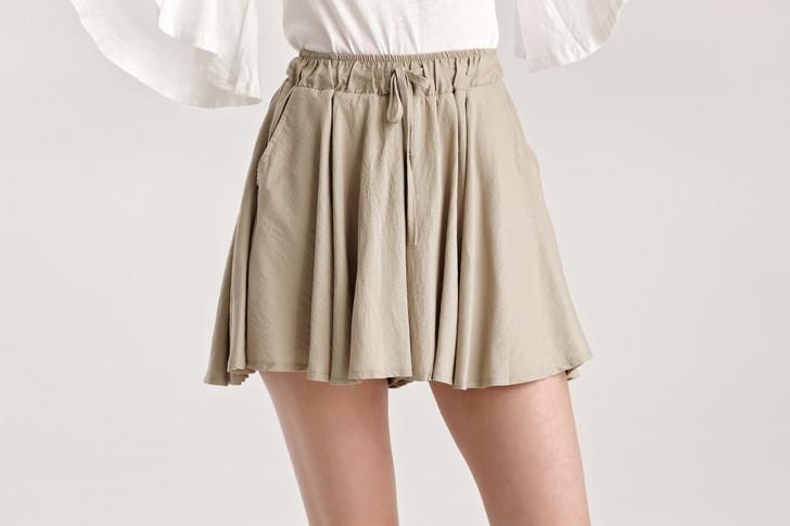 Shrink Chiffon Flare Skirt
