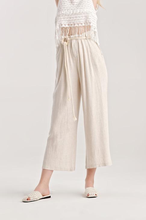 Linen like Wide Leg Pants