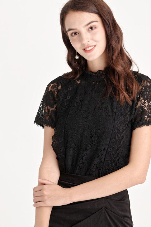 Lace High-Neck Top
