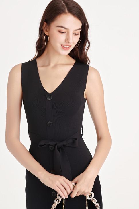 Knit Button Dress