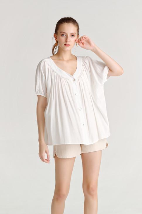 Shirring Button Shirt