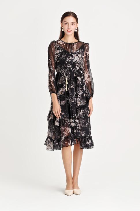 Chiffon Frill Dress