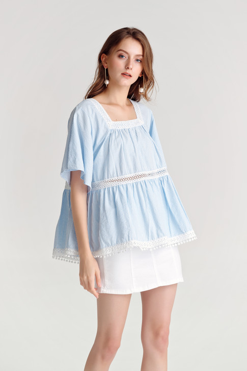 Stripe Baby-doll Top