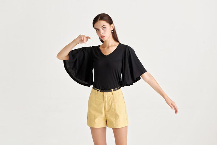 Wide Sleeve Jersey Top
