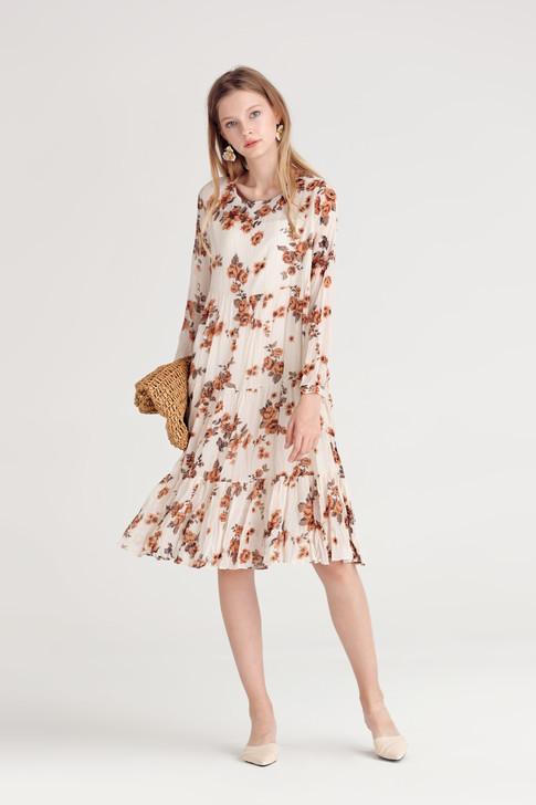 Floral Crease Dress