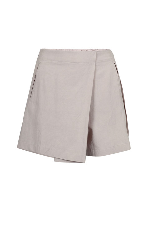 Linen like Mini Skirt