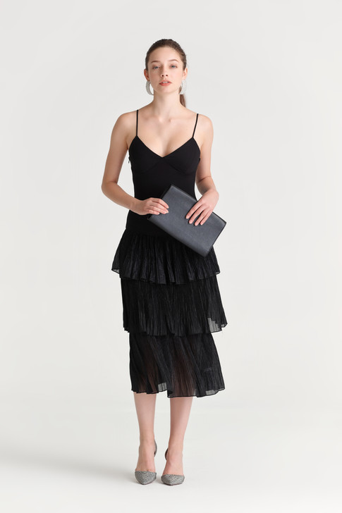 Pleats Layered Skirt