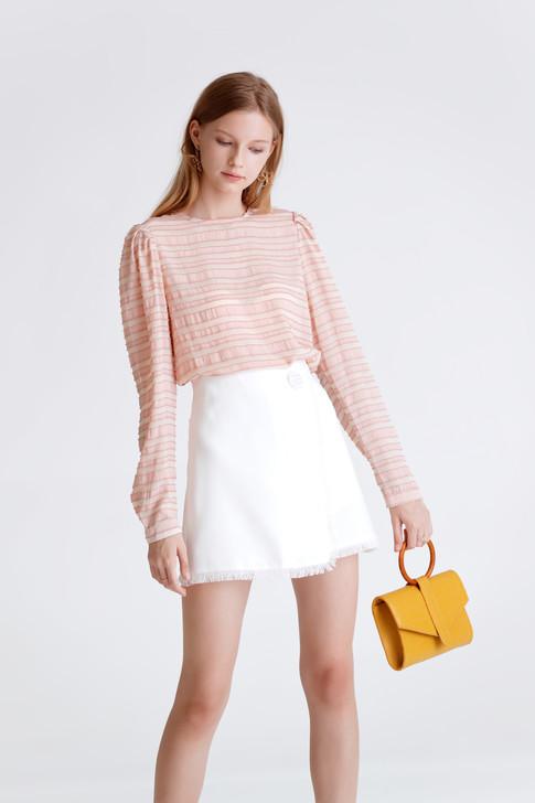 Edge-Detail Wrap Skirt