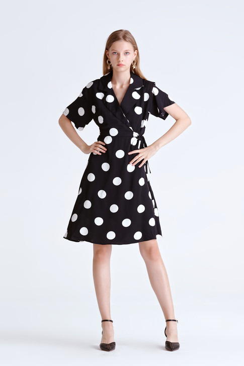 Dot Wrap Dress