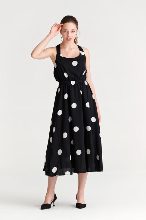 Dot Back-Tie Dress