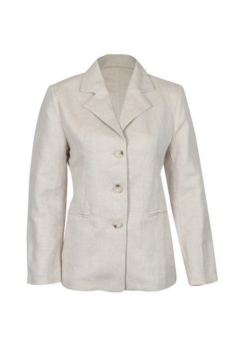 White Turn-up Sleeve Blazer