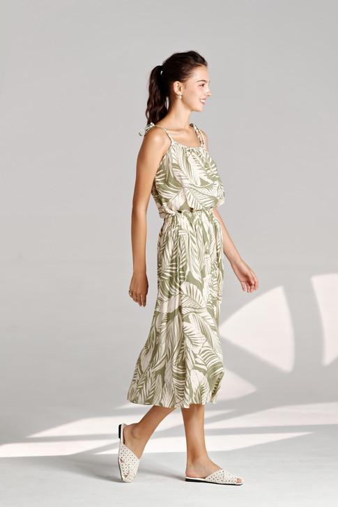 Leaf Print Skirt