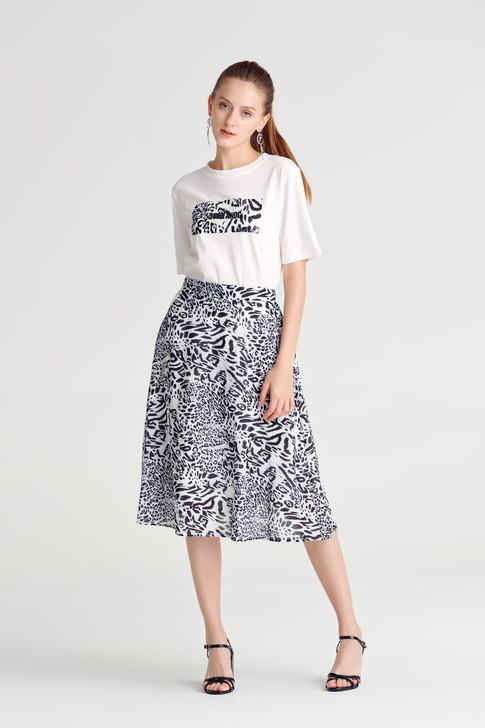 Animal Print A-line Skirt