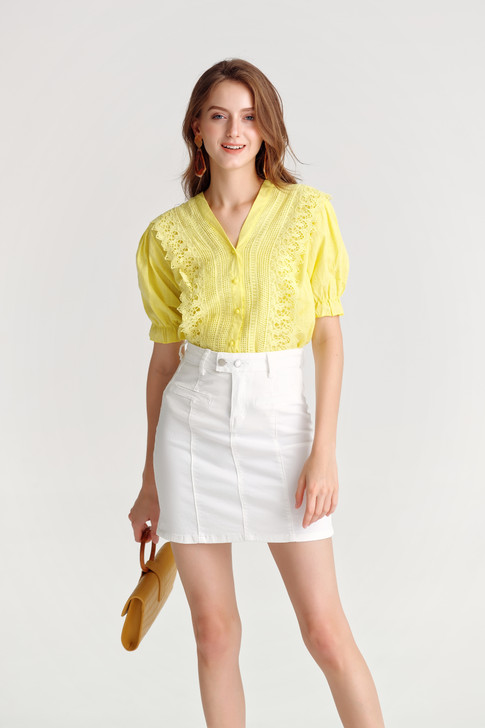 Sheer Frilled Shirt