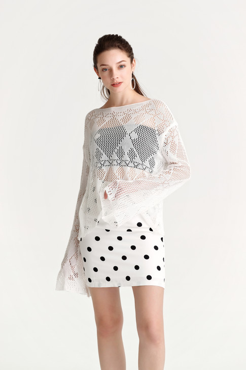 Pointelle Boat-Neck Top