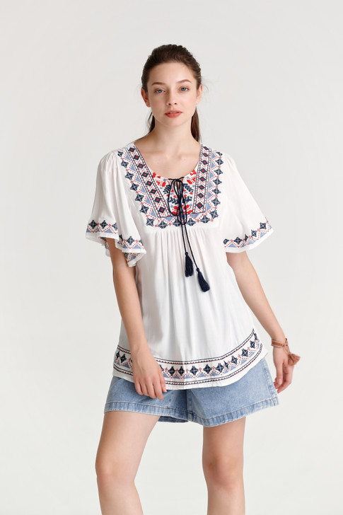 Embroidery Tunic Top