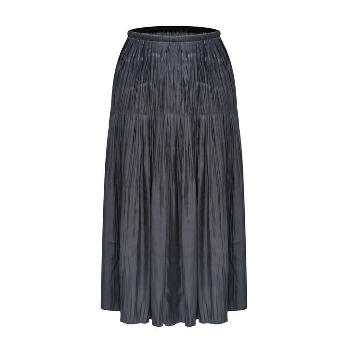 Creased Midi Skirt