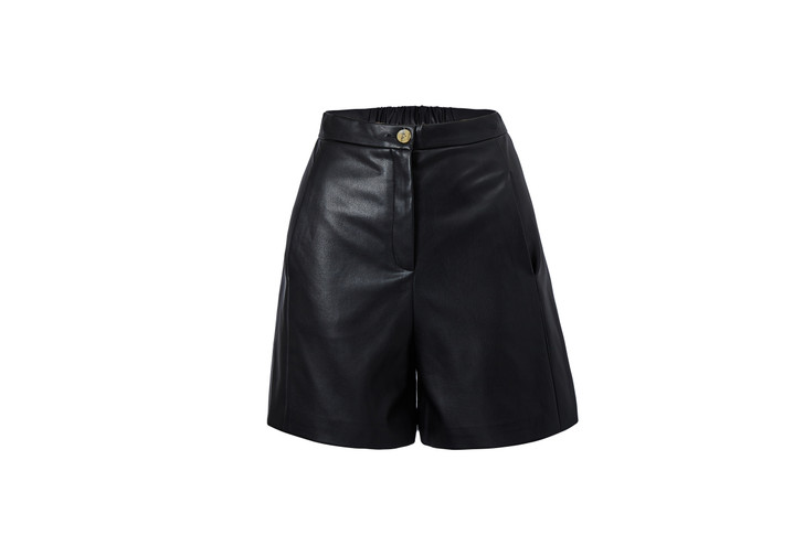 Faux Leather Shorts