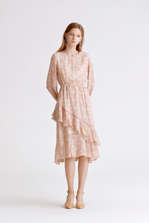 Print Frilled Dress