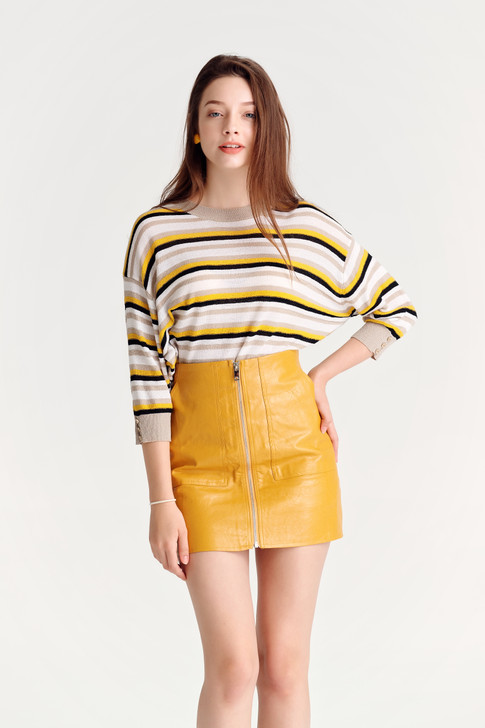 Multi-Stripe Knit Top