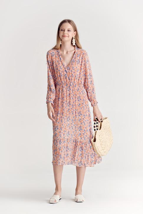 Floral Tiered-Hem Dress