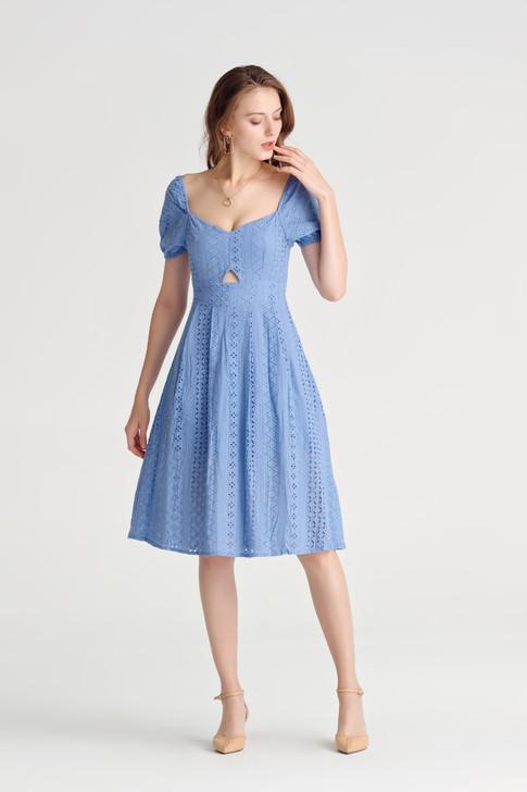 Eyelet Mini Dress