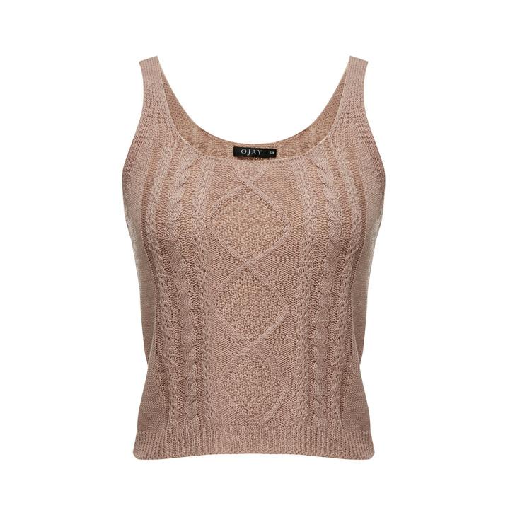 Patterned Knit Cami