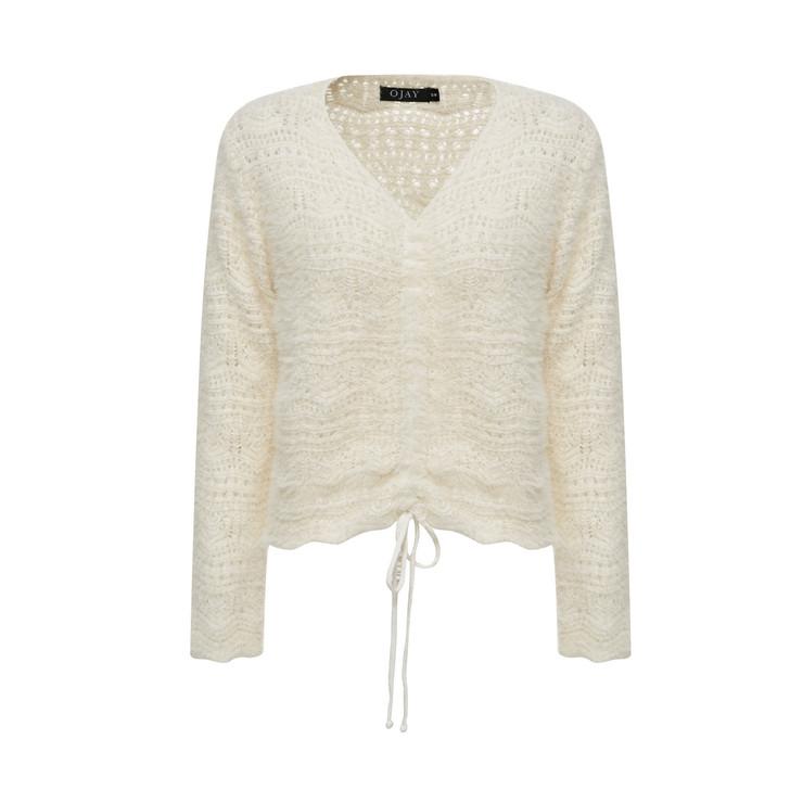 Fluffy Shirring Knit Top
