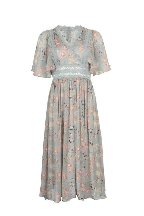 Flower Chiffon Dress(10164)