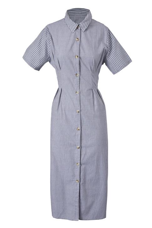 Stripe Shirt Dress(10311)