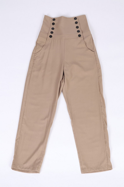 High Waist Capri Pants(10377)